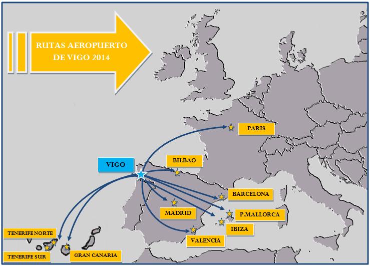 Mapa de rutas 2014 for Aereo barcelona paris